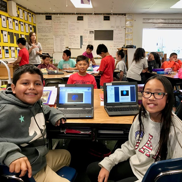 Laptops help students broaden their understanding of topics and make important connections between classroom lessons and the real world.