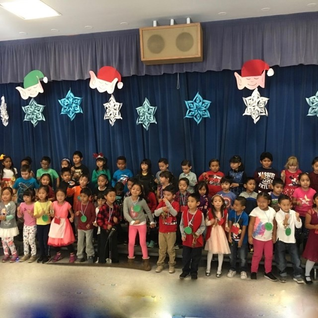 These young students are putting on a holiday performance to remember!