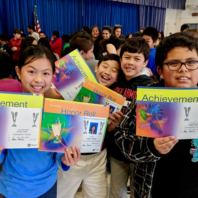 There's nothing like the feeling of accomplishment when students receive their awards!